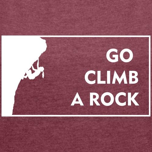 go climb a rock - woman