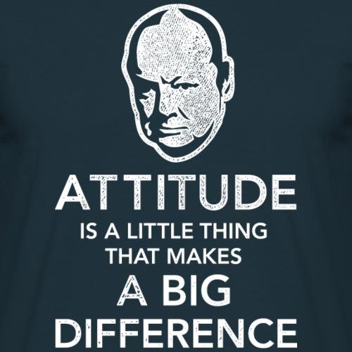 Churchill-Zitat Attitude T-Shirts