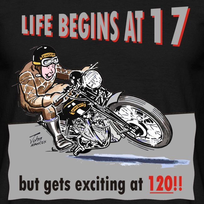 Life begins at 17 biker birthday t-shirt