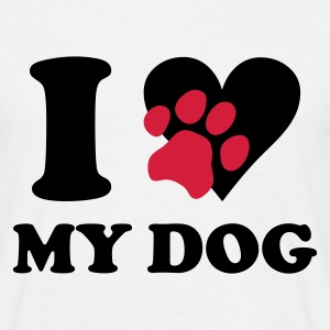 White I love my dog - dogs Men's T-Shirts - Men's T-Shirt