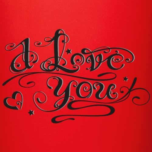 Schriftlogo,I love you, mit Herz und Sternen.