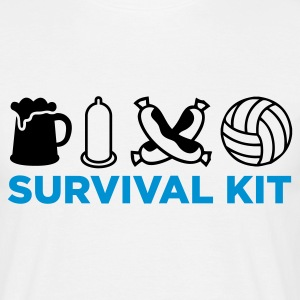 Blanco Survival Kit (2c, NEU) Camisetas - Camiseta hombre
