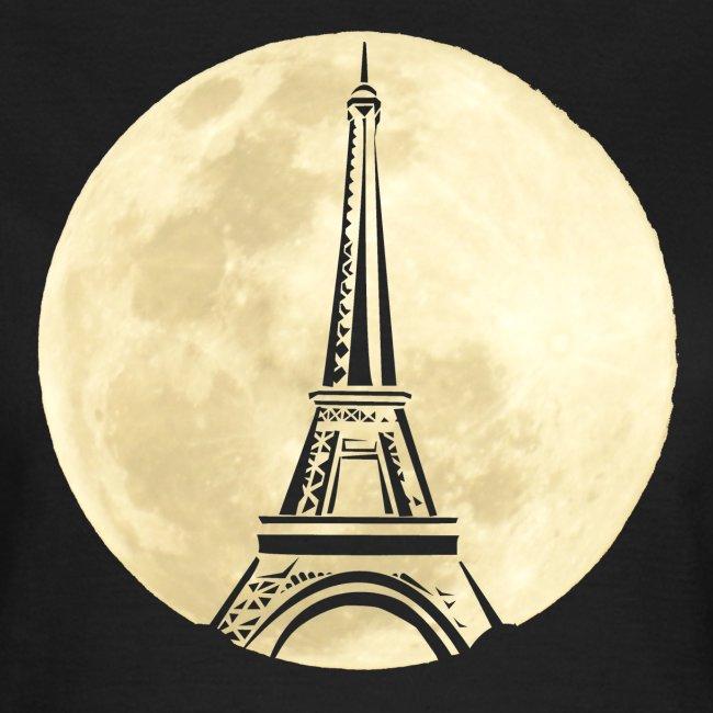 Parijs bij nacht dames t-shirt