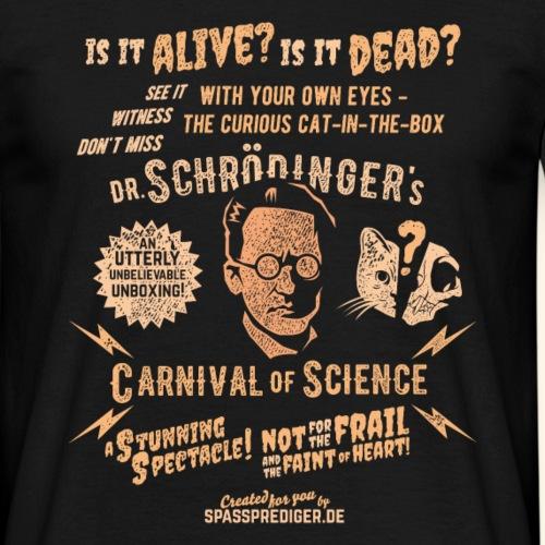 "T-Shirt ""Schrödinger's Carnival of Science"""
