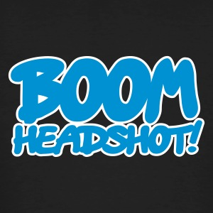 Black BOOM headshot 2c UK Men - Men's Organic T-shirt