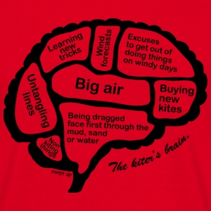 kiter's brain T-Shirts - Men's T-Shirt
