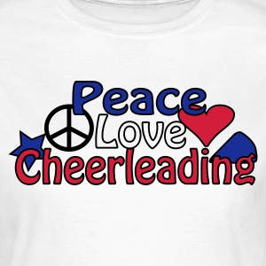 T-Shirt Peace Love Cheerleading - Frauen T-Shirt
