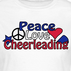 Blanc Peace Love Cheerleading T-shirts - T-shirt Femme