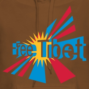Brown free_tibet Hoodies & Sweatshirts - Women's Premium Hoodie