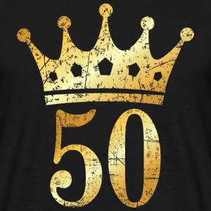 50. Geburtstag Krone Vintage Gold