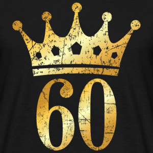 60. Geburtstag Krone Vintage Gold