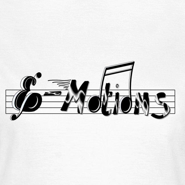 Muziek emoties dames t-shirt wit