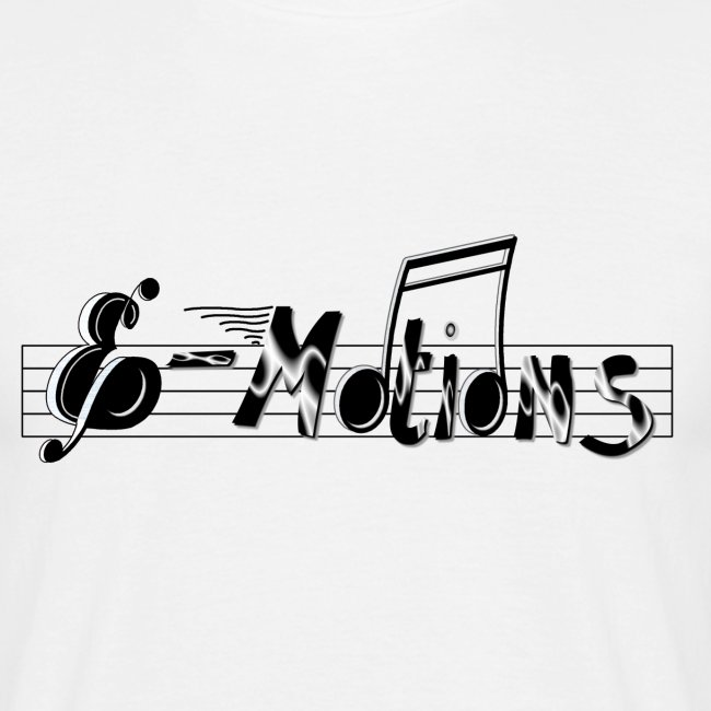 Muziek emoties heren t-shirt wit