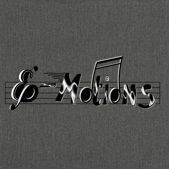 Muziek emoties tas tweezijdig bedrukt