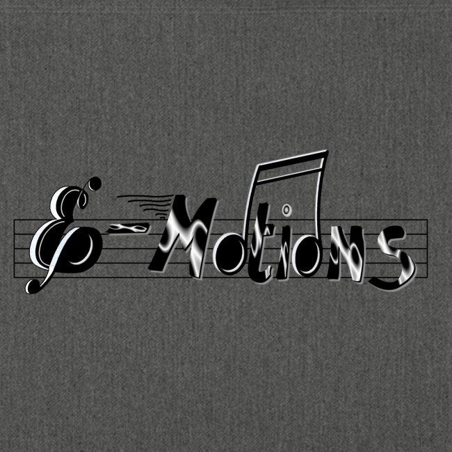 Muziek emoties tas eenzijdig bedrukt