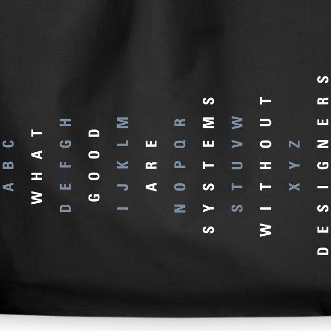 ABC Gestalter (DE), Cotton Gym Bag