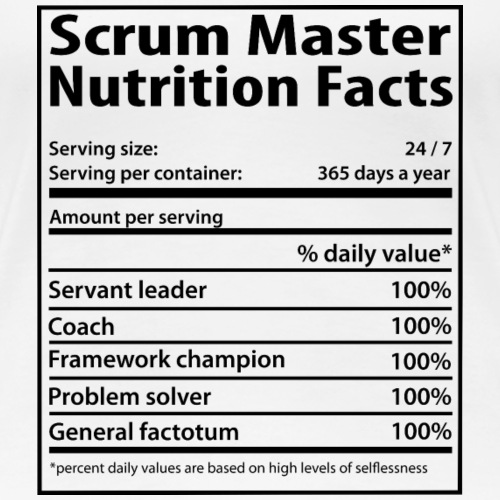 Scrum Master - Nutrition facts