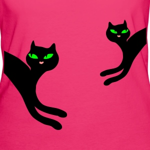 Neon pink Cheeky retro kitty cat Women's T-Shirts - Women's Organic T-shirt