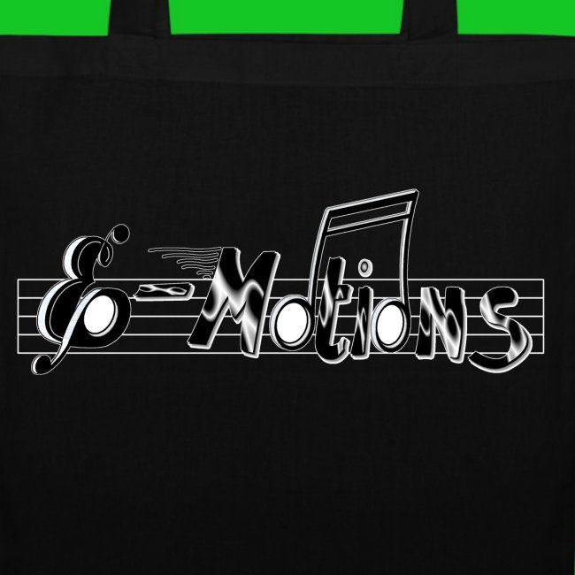 Muziek emoties tas katoen zwart