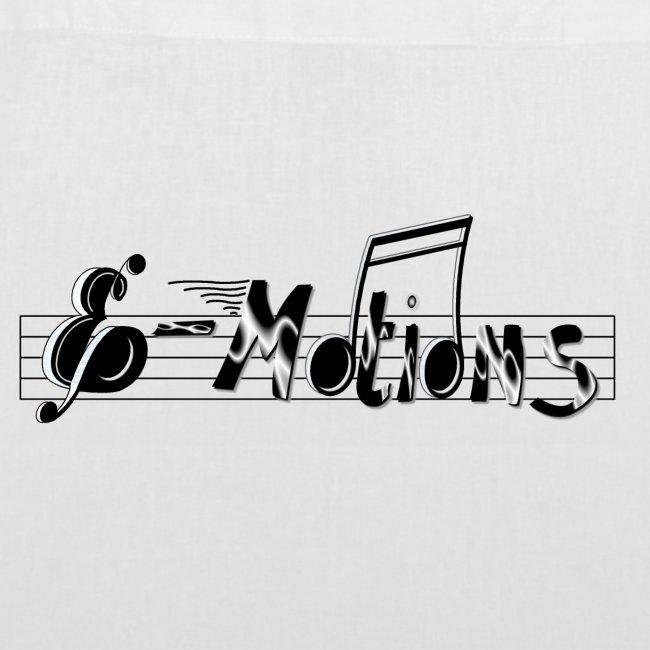 Muziek emoties tas katoen wit