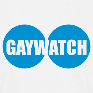 Weiß GAYWATCH © T-Shirts - T-skjorte for menn