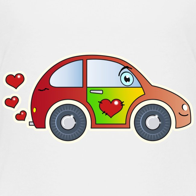 Auto Spielzeug Herzen Lustig Fröhlich Bunt Kinder Kinder Premium T Shirt