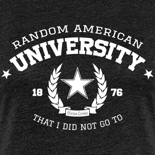 University vrouwen premium shirt