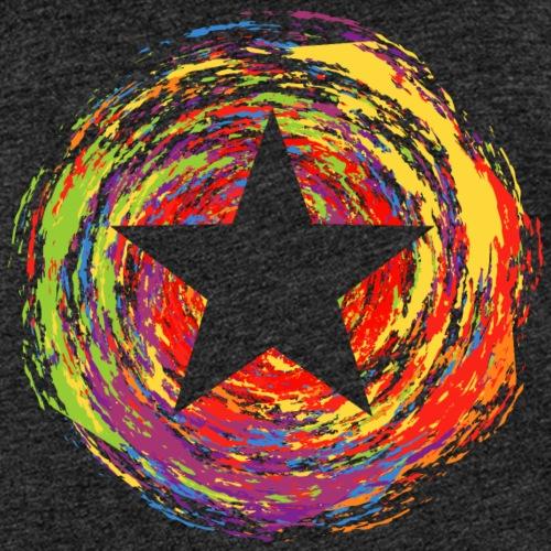 Farbexplosion mit Stern