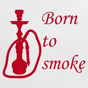 Shirt Born to Smoke - Frauen Kontrast-T-Shirt