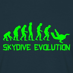 Navy Skydive Evolution T-Shirts - Männer T-Shirt