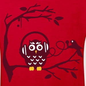 Red Listen to music Kids' Shirts - Kids' Organic T-shirt