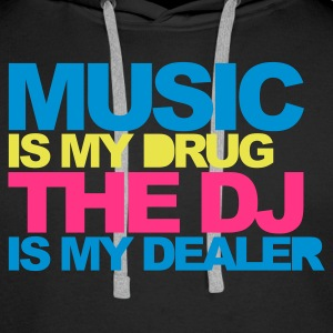 Black Music Is My Drug V4 Hoodies & Sweatshirts - Men's Premium Hoodie