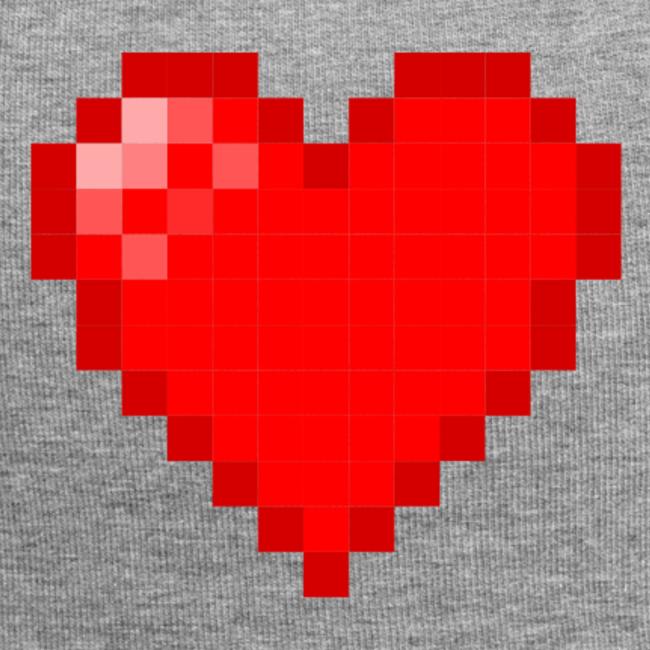 Pixel Heart Beanie