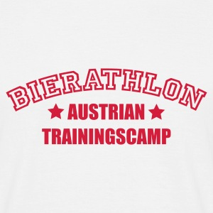 Weiß Bierathlon Trainingscamp © 1c T-Shirts - Mannen T-shirt