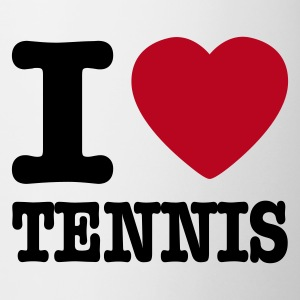 Blanc I love tennis BE FR Tasses - Tasse