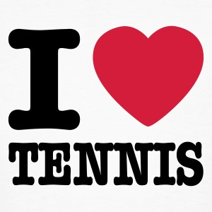 Weiß I love tennis AT Männer - Männer Bio-T-Shirt