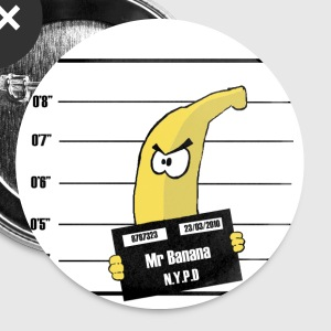 Banana - Badge petit 25 mm