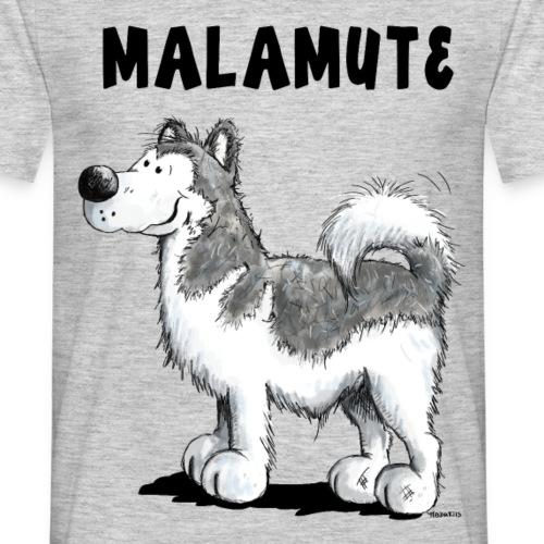 Happy Alaskan Malamute Comic Hund
