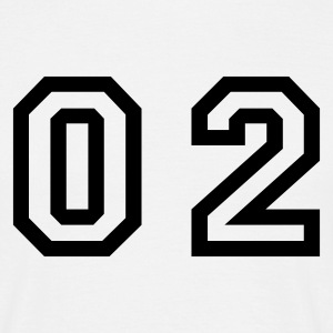 White number - 02 - zero two Men's T-Shirts - Men's T-Shirt