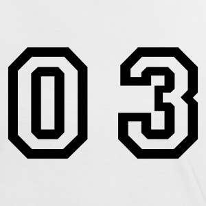 White/black number - 03 - zero three Women's T-Shirts - Women's Ringer T-Shirt