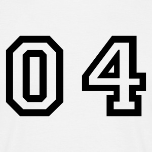 White number - 04 - zero four Men's T-Shirts - Men's T-Shirt