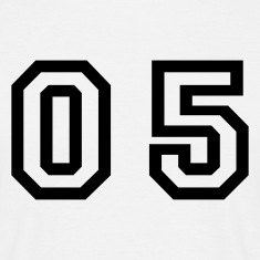 White number - 05 - zero five Men's T-Shirts