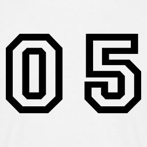 White number - 05 - zero five Men's T-Shirts - Men's T-Shirt