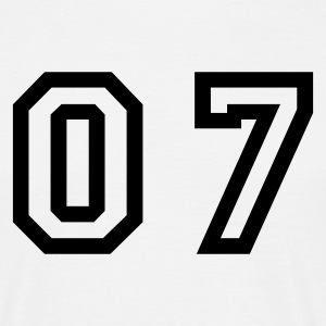 White number - 07 - zero seven Men's T-Shirts - Men's T-Shirt