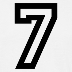 White number - 7 - seven Men's T-Shirts