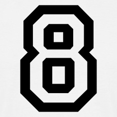 White number - 8 - eight Men's T-Shirts