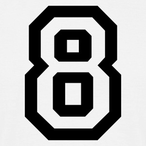 White number - 8 - eight Men's T-Shirts - Men's T-Shirt