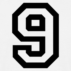 White number - 9 - nine Men's T-Shirts - Men's T-Shirt
