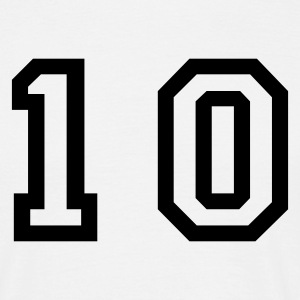 White number - 10 - ten Men's T-Shirts - Men's T-Shirt