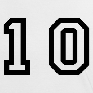 White/black number - 10 - ten Women's T-Shirts - Women's Ringer T-Shirt
